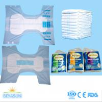 PE Film Cover Thick Extra Absorbent Adult Disposable Diapers Printed / Chemical Free Manufactures