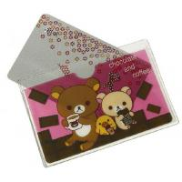 Customized cute printing transparent PVC plastic card holder / ID card holder Manufactures