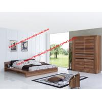 Luxury Aparment Bedroom Furniture by leather upholstered and MDF Plate bed with In wall Sliding door Armoires Manufactures