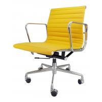 Professional Yellow Leather Desk Chair , Ergonomic Executive Chair Non Folded Manufactures