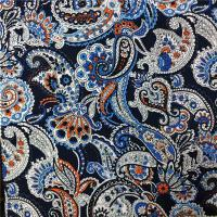 110-115GSM Printed Rayon Fabric High Color Fastness No Deformation 45X45 Yarn Count Manufactures