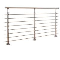 China DIY stainless steel balustrade systems with solid rod bar design on sale