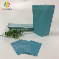 Stand Up Foil Pouch Packaging Custom Aluminum Foil Flat Bags With Reusable Ziplock Manufactures