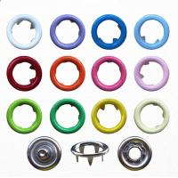 China 9.5mm Various Colors Ring Snap Button for Babies Wear; Brass Ring Prong Fastener on sale