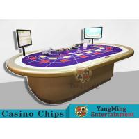 Custom RFID Casino Chips , Grade 10 Person Electronic Poker Table With Intelligent System Manufactures