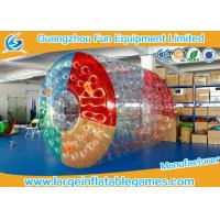 PVC Inflatable Water Roller Ball Inflatable Hamster Wheel For Water Pool Manufactures