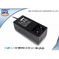 Black Antijamming 36W Switching Power Adapter With Coil , 87.4% Efficiency Manufactures