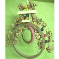 Buy cheap 9 inches chewable paper bagel swings with shredding beads for African grey from wholesalers