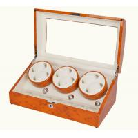 6+7  wooden watch winder show boxes for 13pc watch storage great item for shop display yellow color Manufactures