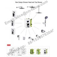 Buy cheap chrome finish concealed wall mounted square rain shower faucet set hand shower,Water saving Concealed shower faucet from wholesalers