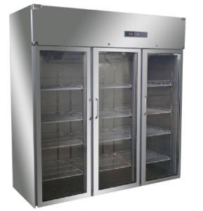 Large Medical Vaccine Refrigerator Blood Bank Equipments Upright Glass Door Freezer Manufactures