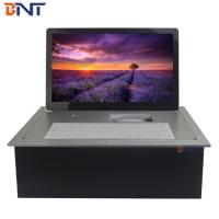 silver high quality with 18.5inch FHD screen computer desk electric lcd monitor BF6-18.5A Manufactures