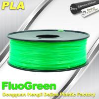 Quality 1.75 / 3mm Fluorescent Filament   PLA Fluo filament  bright color filament for sale