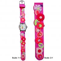 Plastic children watch with 3D pattern strap Manufactures