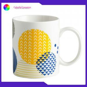 Creative geometric decal mug new bone china mug set 350ml custom coffee mugs Manufactures