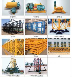 380V 50HZ Electrical 3 - 25 Ton Building Construction Self Erecting Tower Cranes For Cargo