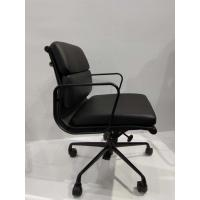 Low Back Soft Pad Office Chair With Black Powder Coated Aluminum Armrest / Base Manufactures