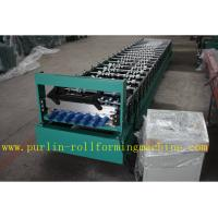 Corrugated Roof Wall Cladding Cold Roll Forming Machine With PLC System 0.3mm - 0.8mm Manufactures
