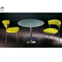 simple design dining room glass round dining table T248 Manufactures