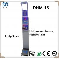 China Coin-operated Ultrasonic Electronic Height and Weight Body Fat Scale balance DHM-15 Coin-operated Ultrasonic Electronic on sale