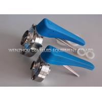 China 12 Positions SS304 Sanitary Butt - Welded Butterfly Valve with Plastic Handle on sale