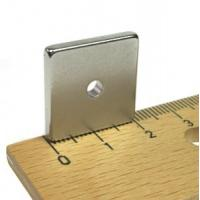 N38 Neodymium Block Magnet with Hole Manufactures