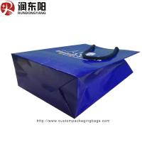 China customized logo for Paper Bag Stand Up  Hand Lenth Handle For Shopping on sale