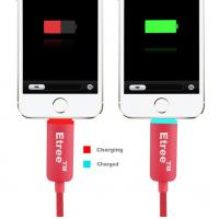 China Led Light 8 Pin USB Charging Cables For Iphone 5 5s , Sync Charge Cable on sale