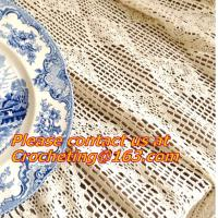 China Cream-coloured Hook needle crochet bedding blanket sofa piano cover dining table cloth rus on sale