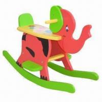 China Children's chair, wooden chair shaped, elephant design, green product on sale