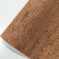 China Easy Cleaning Thin Cork Sheet , Patterned Leather Fabric Colorful Tear Resistant on sale