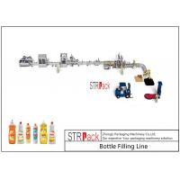 Linear 1L Dishwasher PET Bottle Filling Line With Bottle Unscrambler Machine Manufactures