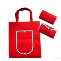 Red Foldable Promotional Gift Bags Canvas Shopping Tote Eco Friendly Manufactures