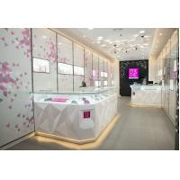 Attractive Pule White Jewellery Showcases Display With Customize Logo Manufactures