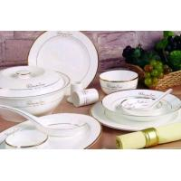China 46 PC Dinnerware Bone China with Decal on sale