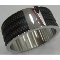 Wholesale Costume Jewelry Stainless Steel Bangles with Leather for Women Manufactures
