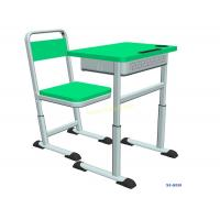 K019 Single Dual Modern Student Desk And Chair Set with Groove HDPE Material Manufactures