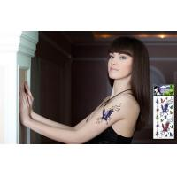 Colorful Tattoo Design Long lasting Temporary Tatoo, Custom Body Art Tattoo Sticker Manufactures