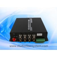 Buy cheap 8CH AHD video fiber transmitter and receiver for Dahua/Hikvision 1~5mp HD camera from wholesalers
