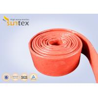 Quality Fire Retardant Silicone Coated Fiberglass Sleeving 100% E - Glass Yarn for sale