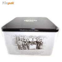 China high quality large square cookie tin box on sale