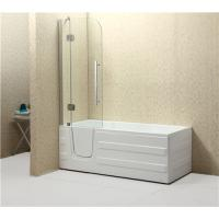 China Weight 65/78KG Corner Walk In Tub , Step In Bathtub With Tempered Glass Screen on sale