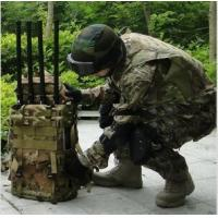 High Frequency Manpack Portable Signal Jammer 4G For Prisons / Military