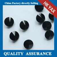 black color Round Satellite shape glass stone,point back rhinestone,factory direct selling glass stones pointback Manufactures