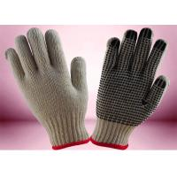 China Cotton / Polyester Working Hands Gloves Flexible Shell Weight 550g Per Dozen on sale