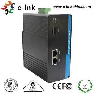 Single Mode Industrial Ethernet Media Converter 1 Port 100BASE SFP + 2 Port 10 / 100BASE - T Manufactures