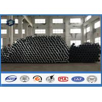 China 30FT 35FT Hot Dip Galvanized Steel Pole in 500kgs Design Load 69KV Power on sale