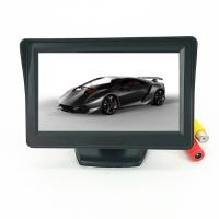 Portable 4.3 Inch Car TFT LCD Monitor Mini LCD Car TV Monitor 480x272 Resolution Manufactures