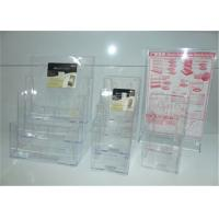 Non Toxic Custom Clear Acrylic Display Products / Acrylic Brochure Holders Manufactures