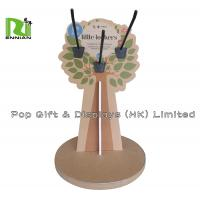 Tree Shape Cardboard Counter Display Rack With Peg Hook Manufactures